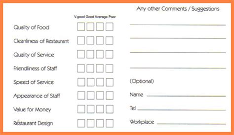 comment card template comment cards template comment card sle jpg sales