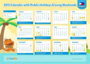 2018 Calendar Philippines With Holidays 11 Weekends In The Philippines In 2017 Tripzilla