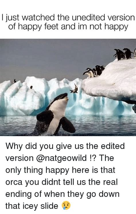 Happy Feet Meme - i just watched the unedited version of happy feet and im