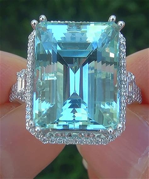 Blue Sapphire 13 80 Ct a gorgeous 13 80 ct flawless aquamarine