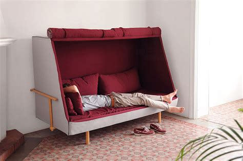 Turn A Bed Into A by A Sofa That Can Turns Into A Bed And A Cabin Fubiz Media