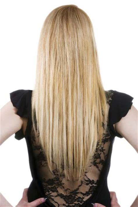 haircut shape long hair with a v shape cut at the back women hairstyles