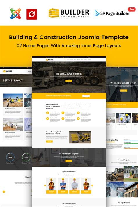 builder construction company joomla template 65495