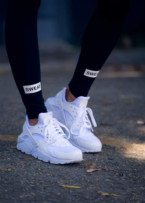 nike air huarache white sweat the style