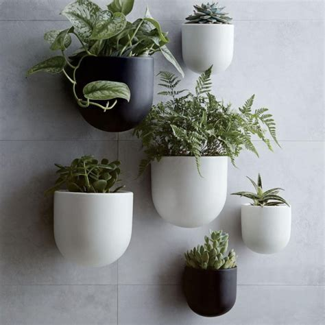 planters that hang on the wall ceramic wall planters mad about the house