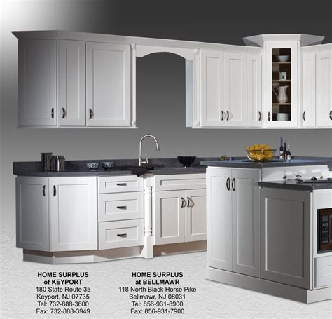 White Shaker Kitchen Cabinets Click Below For Larger | shaker white cabinets home surplus