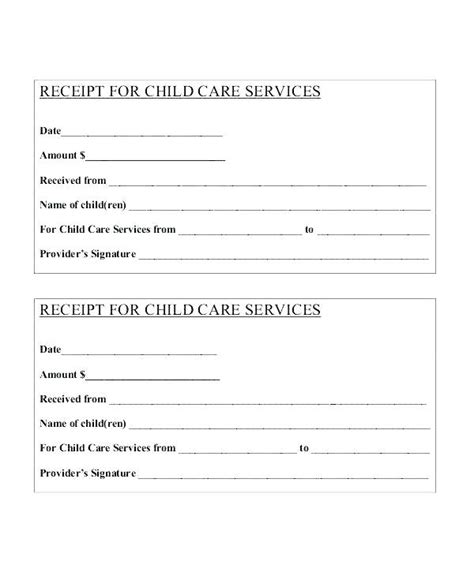 child care receipt template uk blank payment receipt kinoroom club