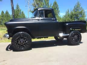 Short bed step side 4x4 matte black lifted used classic gmc for sale