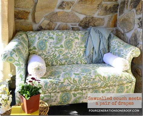 diy no sew couch cover how to reupholster a couch quot no sew quot four generations one