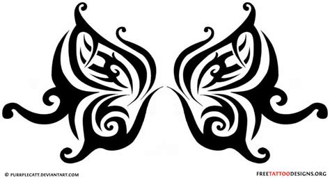 girly tribal tattoo designs 60 butterfly tattoos feminine and tribal butterfly