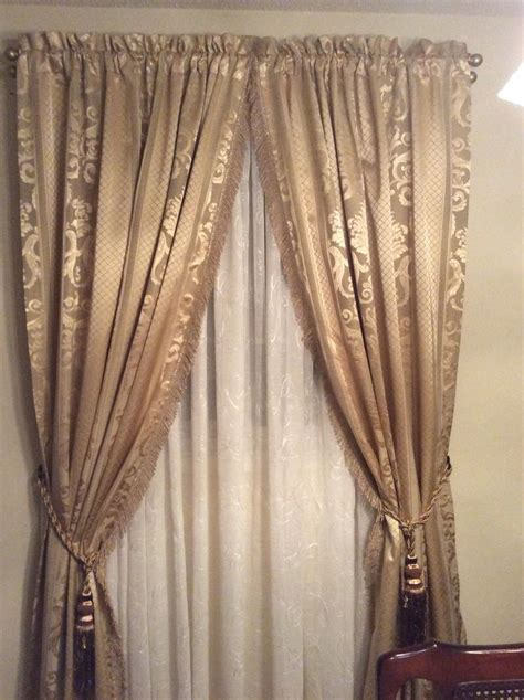 curtain rod tie backs 17 best images about curtains rods tie backs on