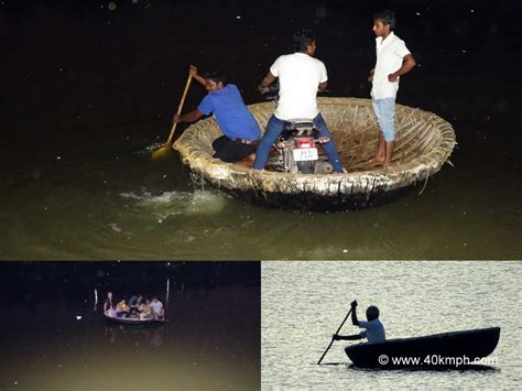 motorboat telugu an indian coracle on tungabhadra river at hi in