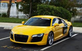 yellow audi r8 wallpapers and images wallpapers