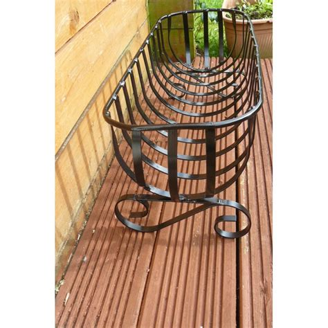 wrought iron planters flower planter 24in freestanding wrought iron