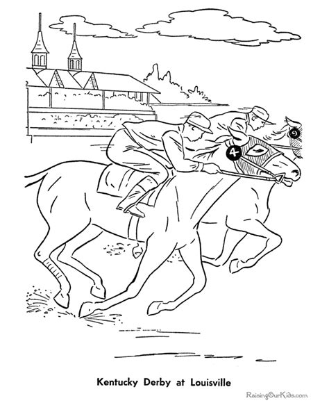 kentucky coloring book pages historic places kentucky derby coloring pages 020