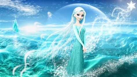 cartoon elsa wallpaper frozen background
