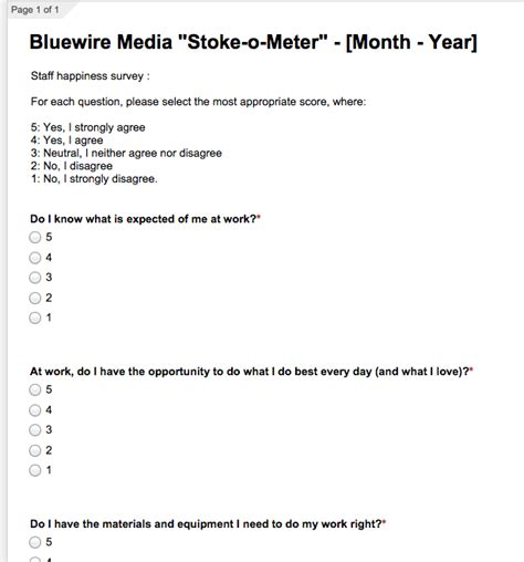Online Planner Free how to measure staff happiness bluewire media