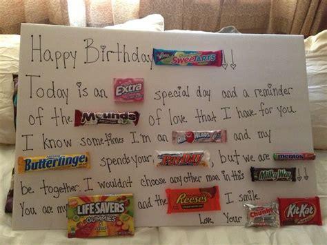 Gram Birthday Card Birthday Candy Gram I Like The Begining Part For Yw Bday