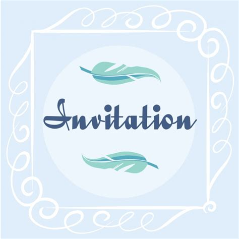 Coloured Card For Wedding Invitations by Coloured Invitation Design Vector Free