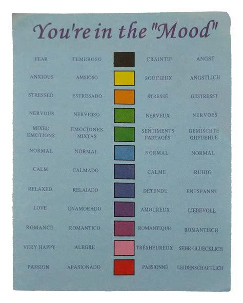 mood chart color best mood rings mood rings chart