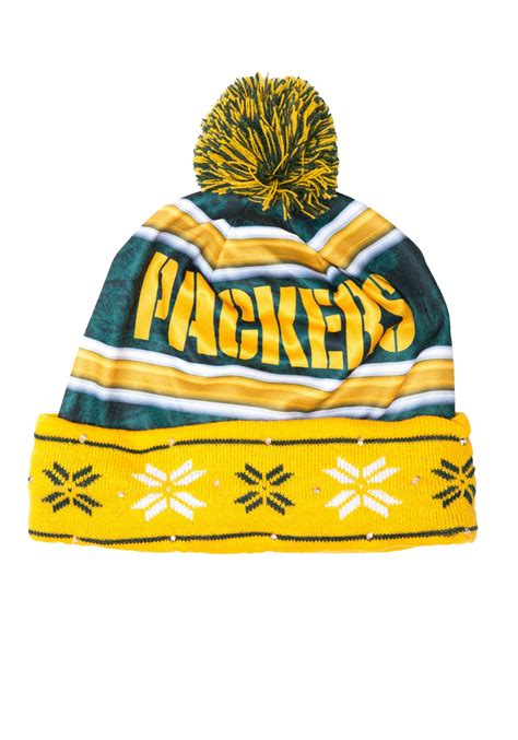 green bay packers light up hat green bay packers light up winter hat
