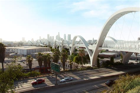 l a s 6th street bridge design competition and the this video lets you soar over l a s new sixth street
