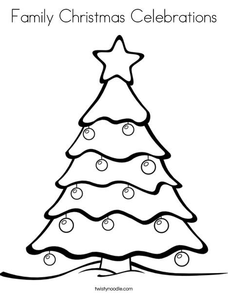 Family Christmas Celebrations Coloring Page Twisty Noodle Coloring Pages Twisty Noodle