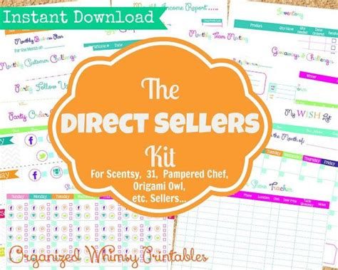 Origami Owl Sellers - organizational printables for sellers of like companies