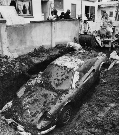 buried in the backyard that time someone found a ferrari buried in their front yard