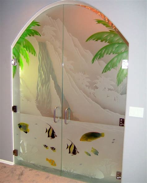 Glass Etching Designs For Kitchen by Etched Hand Painted Glass Entry Door Sans Soucie Art Glass