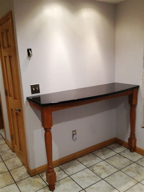 Metal Kitchen Island Tables breakfast bar supported by extended concord island legs