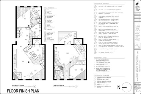 finish floor plan construction documents residential design on behance