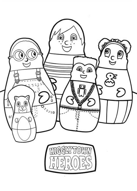 higglytown heroes printable coloring pages pin higglytown heroes printable coloring pages on pinterest