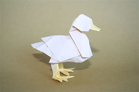 Paper Duck Origami - free coloring pages origami duck designed by katsuta