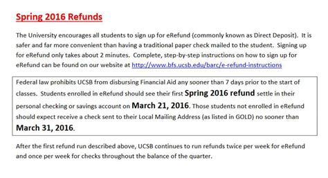 Ucsb Mba Cost by Ucsb Barc Refund Schedule 2018 2019 Student Forum