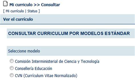 Modelo Curriculum Inem Modelo De Curriculum Vitae Normalizado Modelo De Curriculum Vitae