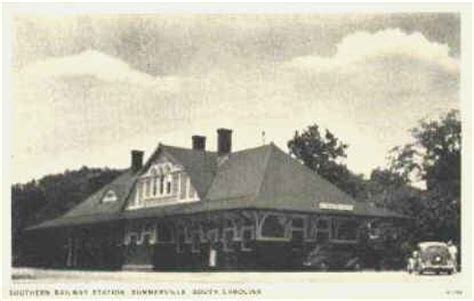 summerville south carolina railroad depot vintage postcard