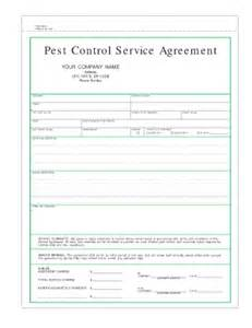 pest forms templates free pest service agreement template fill