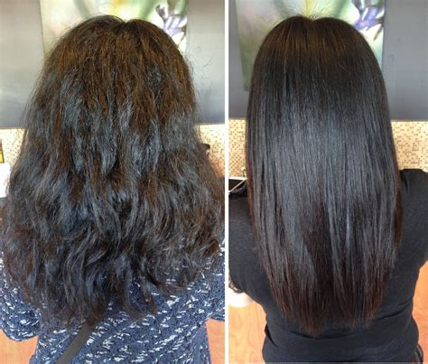 relaxed hair before and after keratin before after our work only at salon