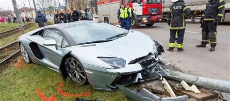 lamborghini crash lamborghini aventador roadster crashes in estonia gtspirit