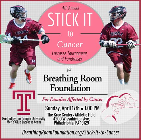 breathing room foundation stick it to cancer 2016