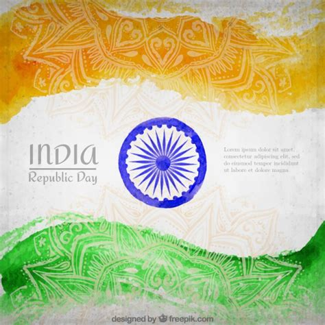 india republic day india republic day flag background vector free