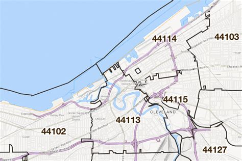 zip code map cleveland cleveland ohio printable u s zip code boundary maps