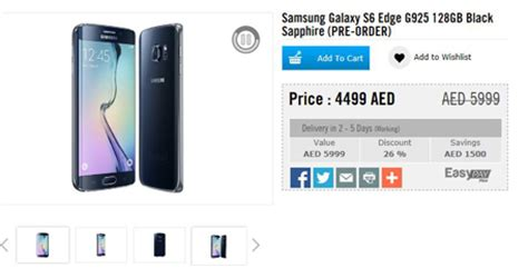 Samsung Galaxy S6 Edge Tablet Price by Samsung Galaxy S6 S6 Edge Price Availability In Uae Emirates24 7