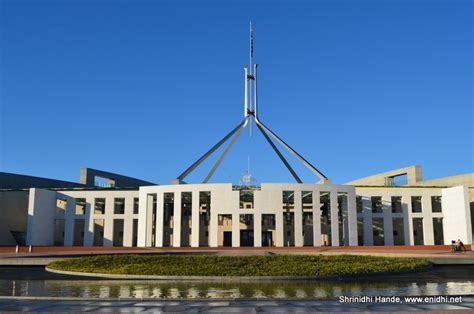 who designed the new parliament house early morning visit new parliament house in canberra australia enidhi india