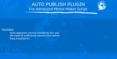 Meme Creator Script - auto publish plugin advanced meme maker script by