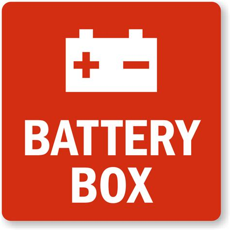 Battery Box Symbol Label Low Prices Quick Delivery