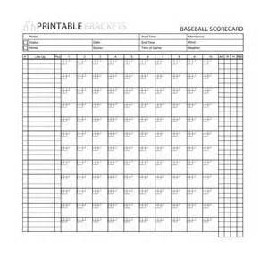 Slo Scoring Template by 30 Printable Baseball Scoresheet Scorecard Templates