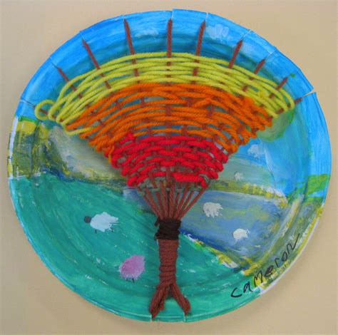 paper plate weaving craft stephens in the room tree weaving with third