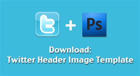 download free twitter header image template